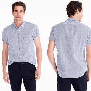 J. Crew shirt sleeve seersucker Button Down S m008